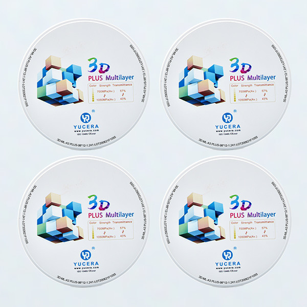 43% 49% translucent 3D Multilayer Dental Zirconia Discs